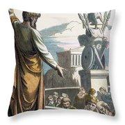 Saint Paul At Athens Throw Pillow