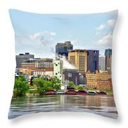 Saint Paul From The Mississippi Throw Pillow