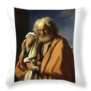 Saint Peter Penitent Throw Pillow