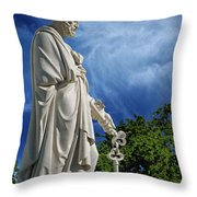Saint Peter With Keys To Heaven Throw Pillow