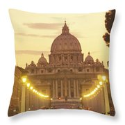 Saint Peters Cathedral In The Vatican Throw Pillow