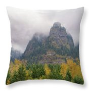 Saint Peters Dome At Columbia River Gorge Throw Pillow