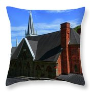 Saint Peters Roman Catholic Church In Harpers Ferry West Virginia Throw Pillow