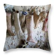 Saint Roch Legs And Feet Throw Pillow