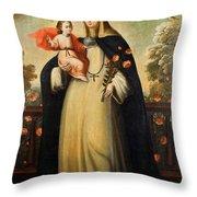 Saint Rose Of Lima With Child Jesus Throw Pillow