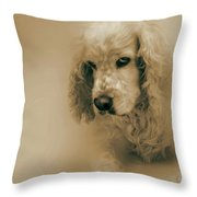 Saint Shaggy Art 6 Throw Pillow