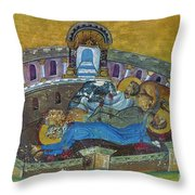 Saint Silvanus Of Emesa Throw Pillow