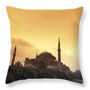 Saint Sophia Hagia Sophia At Sunset Throw Pillow