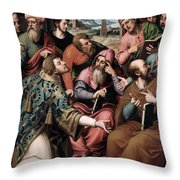 Saint Stephen In The Synagogue Throw Pillow