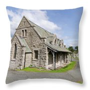 Saint Tudno Church 2 Throw Pillow