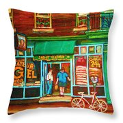 Saint Viateur Bakery Throw Pillow