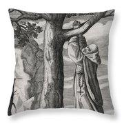 Saint Victorinus Does Penance Throw Pillow