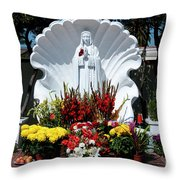 Saint Virgin Mary Statue #2 Throw Pillow