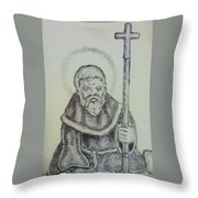 Saint Wulfric The Miracle Worker Throw Pillow
