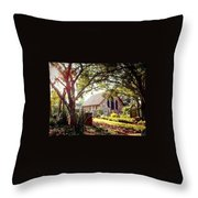 Saintly Sunset Throw Pillow