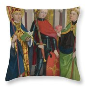 Saints Gregory Maurice And Augustine Throw Pillow