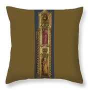 Saints Nicholas Damian And Margaret   Right Pilaster Throw Pillow