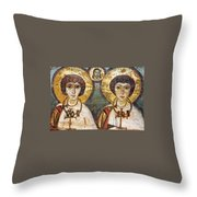Saints Sergius And Bacchus Throw Pillow