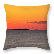 Sakonnet Point Sunrise And Lighthouse Throw Pillow