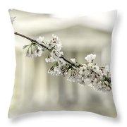 Sakura At The Basin Throw Pillow