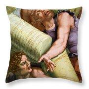 Sala Dei Giganti Throw Pillow by Giulio Romano