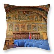 Sala Dei Notari 13th Century Throw Pillow