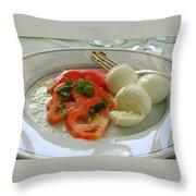 Salad Caprese Throw Pillow