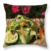 Salad On The Terrace Throw Pillow by Murtaza Humayun Saeed
