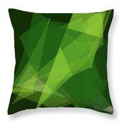 Salad Polygon Pattern Throw Pillow