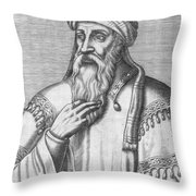 Saladin, Sultan Of Egypt And Syria Throw Pillow