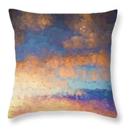 Salamonie Sunset Abstract Throw Pillow