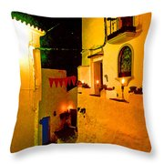 Salares By Night With Cat Throw Pillow