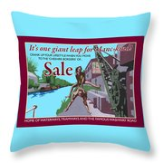 Sale Poster By Eric Jackson, Statement Artwork Throw Pillow