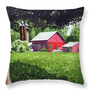 Salem County Farm, Framed Throw Pillow
