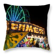 Salem Ma Halloween Carnival Games Booth Throw Pillow