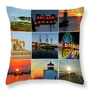 Salem Ma Nine Picture Collage Throw Pillow