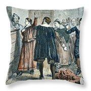 Salem Witch Trials Throw Pillow