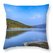 Salen Bay Loch Sunart Throw Pillow