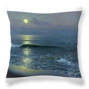 Salida De La Luna Throw Pillow