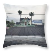 Salinas Valley Victorian Mansion Throw Pillow