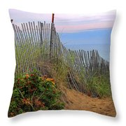 Salisbury Beach Throw Pillow