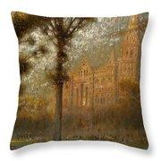 Salisbury Cathedral Throw Pillow