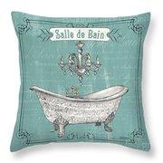 Salle De Bain Throw Pillow