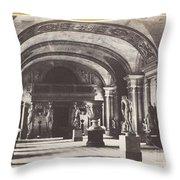 Salle Des Cariatides, Au Mus?e Du Louvre Throw Pillow