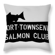 Salmon Club Throw Pillow