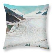 Salmon Glacier, Frozen Motion Throw Pillow