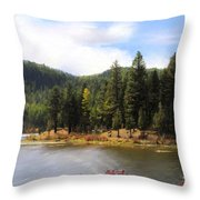 Salmon Lake Montana Throw Pillow
