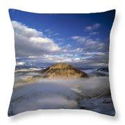 Salmon River Mountains Throw Pillow