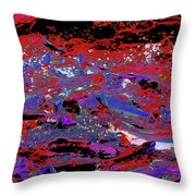 Salmon Run 11 Throw Pillow