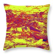 Salmon Run 6 Throw Pillow